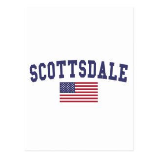 スコッツデール米国の旗 ポストカード