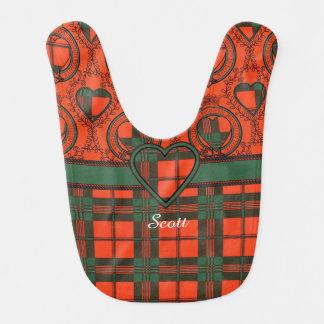 スコットの一族の格子縞のスコットランド人のタータンチェック ベビービブ
