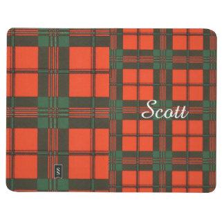 スコットの一族の格子縞のスコットランド人のタータンチェック ポケットジャーナル