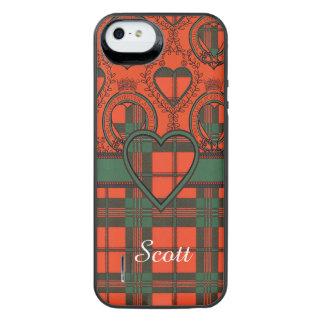 スコットの一族の格子縞のスコットランド人のタータンチェック iPhone SE/5/5sバッテリーケース