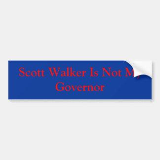 スコットの歩行者は私の知事ではないです バンパーステッカー