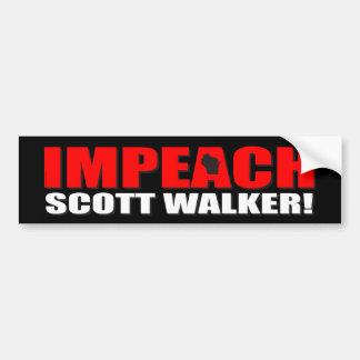 スコットの歩行者を弾劾して下さい バンパーステッカー