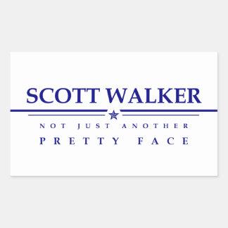 スコットの歩行者: ちょうど別のかわいらしい顔 長方形シール