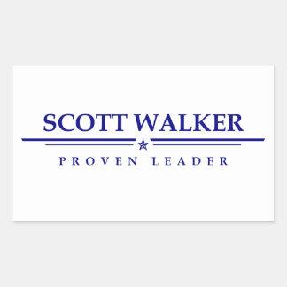 スコットの歩行者: 証明されたリーダー 長方形シール