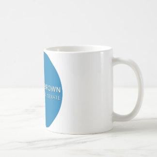スコットの茶色のキャンペーンボタン コーヒーマグカップ