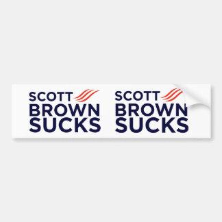 スコットブラウンはステッカーを吸います バンパーステッカー