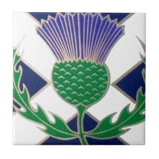 スコットランドおよびアザミの旗 タイル