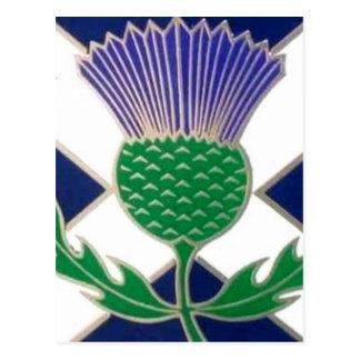 スコットランドおよびアザミの旗 ポストカード