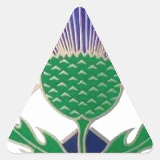スコットランドおよびアザミの旗 三角形シール