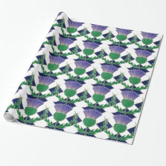 スコットランドおよびアザミの旗 包装紙
