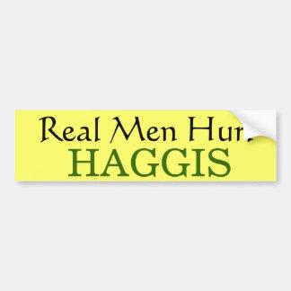 スコットランドからのHaggis男らしい食糧、おもしろいおよびゲーム バンパーステッカー