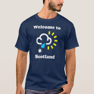スコットランドのおもしろいな天候のTシャツへの歓迎 Tシャツ