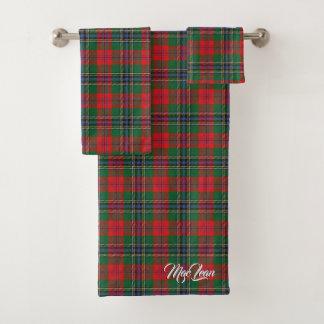 スコットランドのしゃれているな一族のMacLeanのタータンチェック格子縞 バスタオルセット