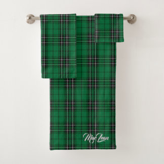 スコットランドのしゃれているな一族のMacLeanの狩りのタータンチェック格子縞 バスタオルセット