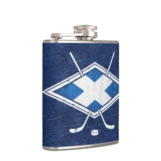 スコットランドのアイスホッケーの旗のロゴのスキットル フラスク