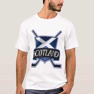 スコットランドのアイスホッケーの旗のロゴ Tシャツ