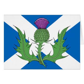 スコットランドのアザミおよびSaltire カード