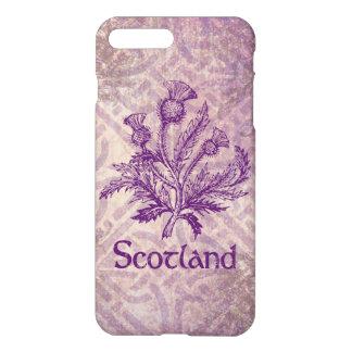 スコットランドのアザミの紫色のケルト結び目模様 iPhone 8 PLUS/7 PLUSケース