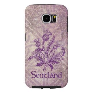 スコットランドのアザミの紫色のケルト結び目模様 SAMSUNG GALAXY S6 ケース