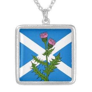 スコットランドのアザミ シルバープレートネックレス