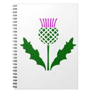 スコットランドのアザミ ノートブック