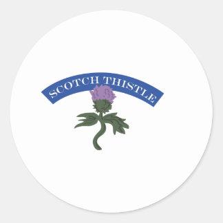 スコットランドのアザミ ラウンドシール