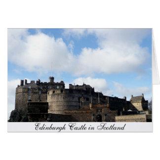 スコットランドのエジンバラの城 カード