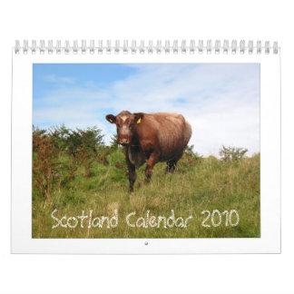 スコットランドのカレンダー2010年 カレンダー