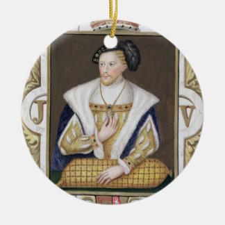 スコットランドのジェームスVの(1512-42年の)王のポートレートのための セラミックオーナメント