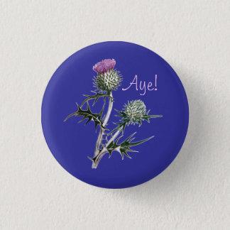 スコットランドのスコットランドの独立Pinbackの花 缶バッジ