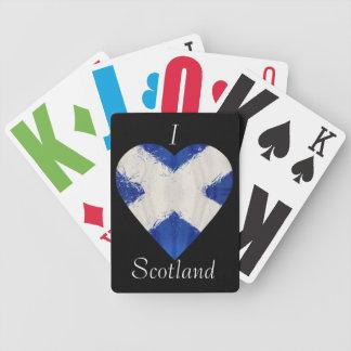 スコットランドのスコットランド人の旗 バイスクルトランプ