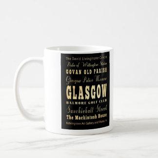 スコットランドのタイポグラフィの芸術のグラスゴー都市 コーヒーマグカップ