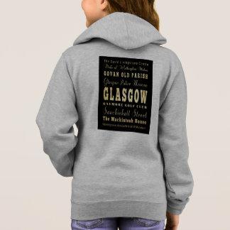 スコットランドのタイポグラフィの芸術のグラスゴー都市 パーカ