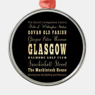 スコットランドのタイポグラフィの芸術のグラスゴー都市 メタルオーナメント