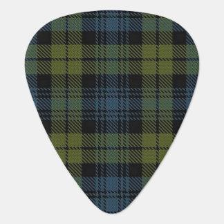 スコットランドのタータンチェックのキャンベル音 ギターピック