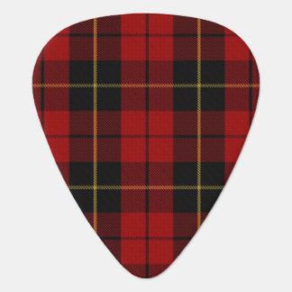 スコットランドのタータンチェックの一族のウォーレスの音 ギターピック