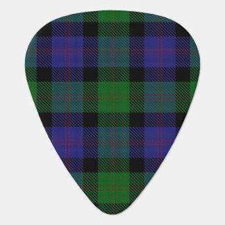 スコットランドのタータンチェックの一族のブレアの音 ギターピック