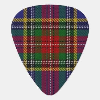 スコットランドのタータンチェックの一族のマクベスの音 ギターピック