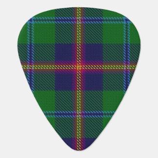 スコットランドのタータンチェックの一族の若い音 ギターピック