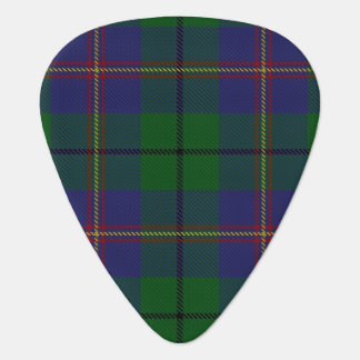 スコットランドのタータンチェックの一族のCarmichaelの音 ギターピック