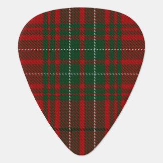 スコットランドのタータンチェックの一族のCummingの赤い緑の音 ギターピック