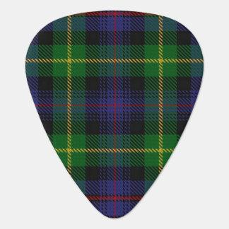 スコットランドのタータンチェックの一族のFarquharsonの音 ギターピック