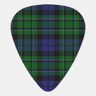 スコットランドのタータンチェックの一族のMacCallumの音 ギターピック