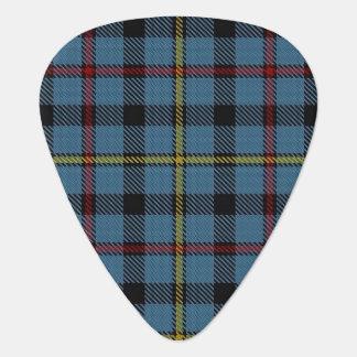 スコットランドのタータンチェックの一族のMacCrimmonの音 ギターピック