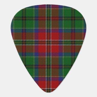 スコットランドのタータンチェックの一族のMacCullochの音 ギターピック