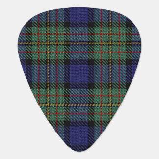 スコットランドのタータンチェックの一族のMacLarenの音 ギターピック
