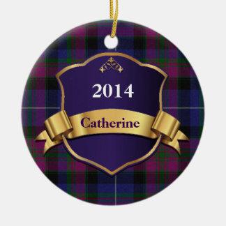 スコットランドのタータンチェック格子縞のカスタムなオーナメントのプライド セラミックオーナメント