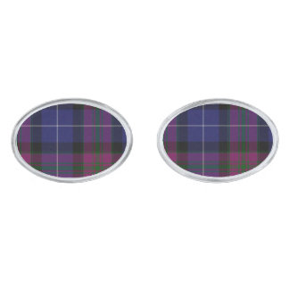 スコットランドのタータンチェック格子縞のカフスボタンのプライド シルバー カフスボタン