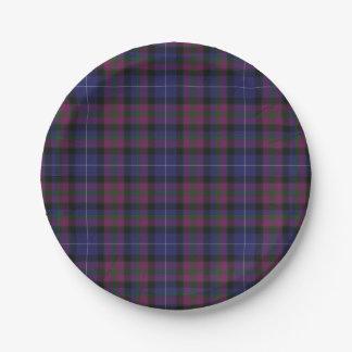 スコットランドのタータンチェック格子縞の紙皿のプライド ペーパープレート