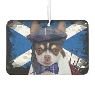 スコットランドのチワワ犬車の芳香剤 カーエアーフレッシュナー